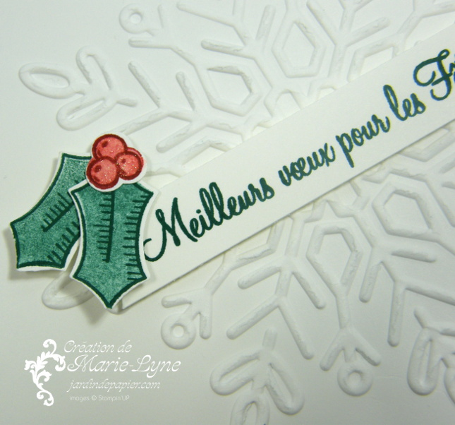 Carte de Noël embossée – Stampin'UP!