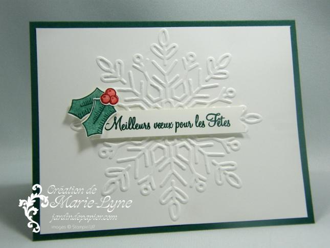 Ma Carte De Noel.Carte De Noël Embossée Stampin Up Scrapbooking