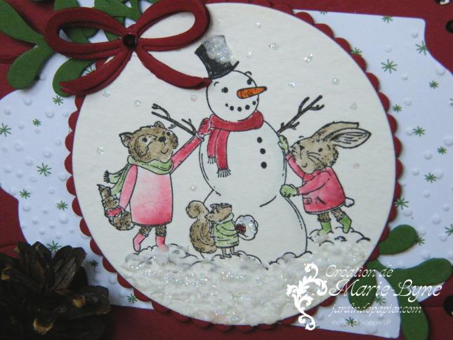 Carte de Noël avec les Mistletoe Friends