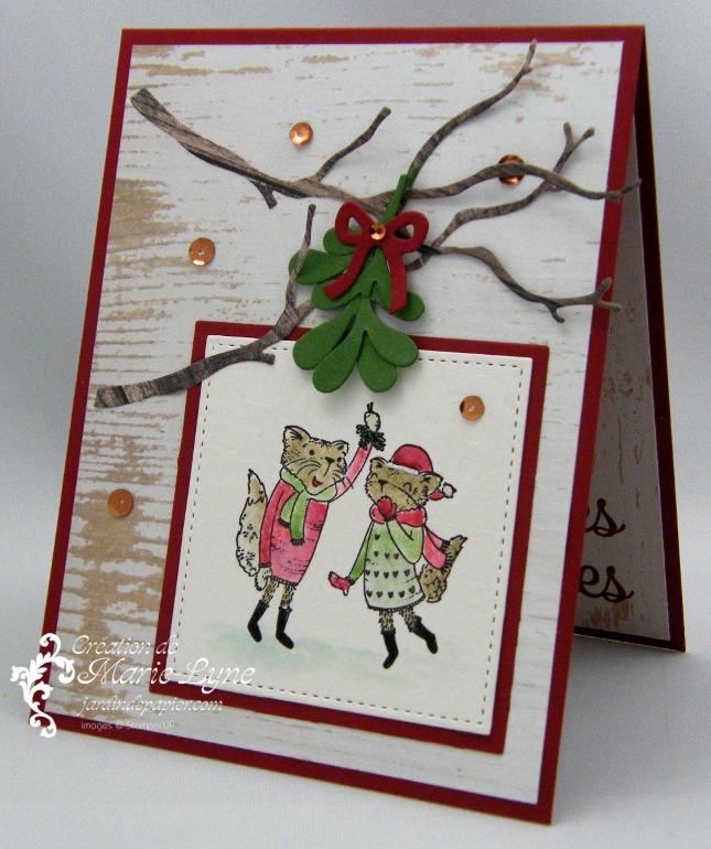 Ma Carte De Noel.Carte De Noël Avec Mistletoe Friends Scrapbooking