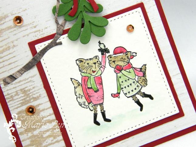 Carte de Noël avec Mistletoe Friends
