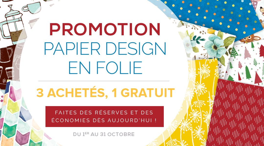 Promotion Papier Design en folie – Stampin'UP!
