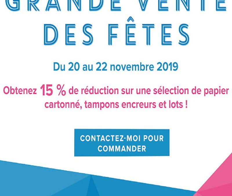Grande vente des Fêtes 2019